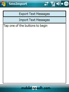 free SMSImport v1.0.1 for windows mobile phone