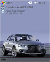 free 2007 Audi Cross Coupe Concept theme for windows mobile phone