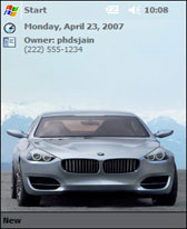 free 2007 BMW Concept CS for windows mobile phone