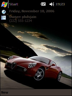 free Alfa Romeo 8C Competizione Pocket PC theme for windows mobile phone