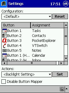 VITO ButtonMapper freeware 2.0 free download for Windows Mobile phone