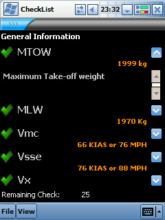 PA-28 Arrow II Check List File 1.0 free download for Windows Mobile phone
