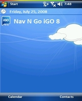 free Cartoon Clouds theme for windows mobile phone