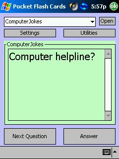 free Computer Jokes for Pocket Flash Cards 1.0 for windows mobile phone