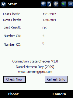 free ConnectionStateChecker for windows mobile phone