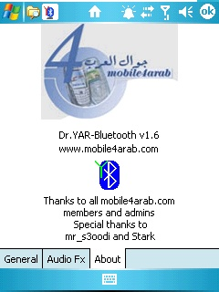 Dr.Yar Bluetooth v1.6.1 free download for Windows Mobile phone
