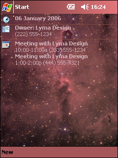 free FREE Deep Space Theme 1 for windows mobile phone