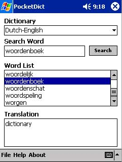free PocketDict Dutch-English 1.0 for windows mobile phone