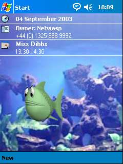 free Fish FlashThemes Theme 1.0.1 for windows mobile phone