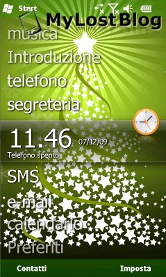free Xmas Tree theme WVGA for windows mobile phone