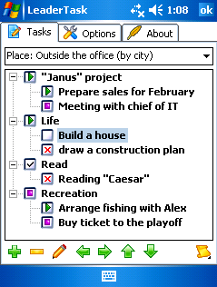 free LeaderTask Organizer for windows mobile phone