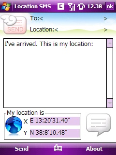 free LocationSMS for windows mobile phone
