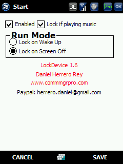 free LockDevice for windows mobile phone