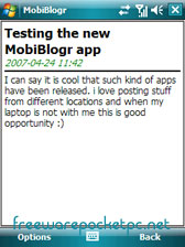 free MobiBlogr 1.1.2 for windows phone