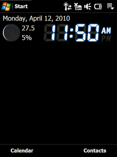 free MoonClock for windows mobile phone