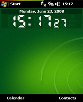 Pocket Digital Clock v1 15 freeware for Windows Mobile Phone