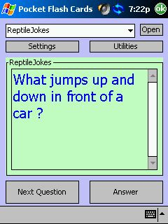 free Reptile Jokes Flash Cards 1.0 for windows mobile phone