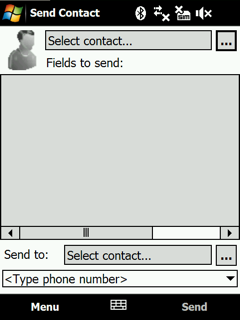 free Send Contact for windows mobile phone