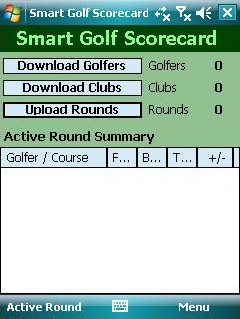 free Smart Golf Scorecard for windows mobile phone