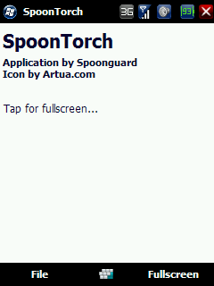 free SpoonTorch for windows mobile phone