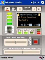 free TNGTricorder Windows Media Player Skin 2.0 for windows mobile phone