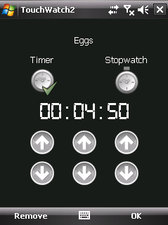 This is a simple timer application with four configurable countdown timers.