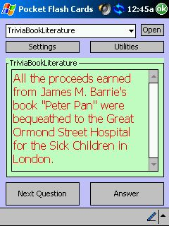 free Literature Trivia Flash Cards 1.0 for windows mobile phone