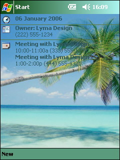 free FREE Tropical Theme 1 for windows mobile phone
