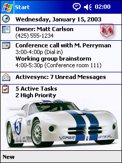 free DC Theme: Dodge Viper 1.0 for windows mobile phone