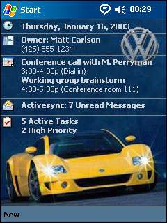 free DC Theme: Volkswagen v1.0 for windows mobile phone