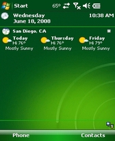 free WeatherBug Direct for windows mobile phone