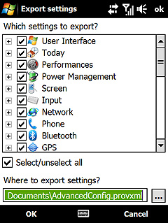 Advanced Configuration Tool v3.30 freeware for Windows Mobile Phone