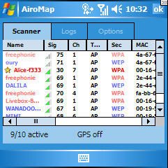 free AiroMap for windows mobile phone