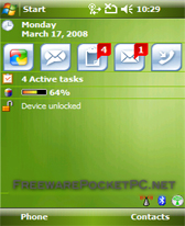All green theme free download for Windows Mobile phone