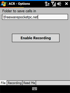 Automatic call recorder for PocketPc