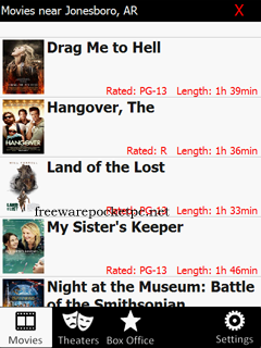 Cinemo is an application for finding movie showtimes and information for your area