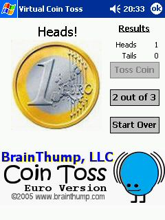 Virtual Coin Toss - Euro Version! 1.0 free download for Windows Mobile phone