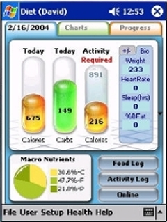 free Diet Partner 1.2 for windows mobile phone