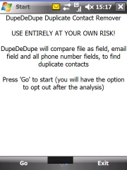 free DupeDeDupe for windows mobile phone