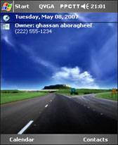 free Endless road theme skin for windows mobile phone