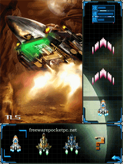 Space shooter game for windows mobile phones