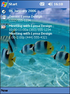 free Free Fish Theme 1 for windows mobile phone