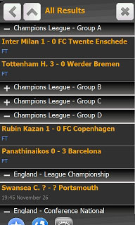 FootballInformer is an WM app provides football/soccer real time score for most of the soccer/football leagues worldwide