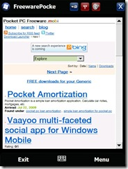FreewarePocketPC wm6.5 widget free download for Windows Mobile phone