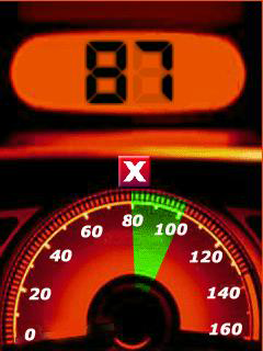 GPS Speedometer is an attractive speed meter on the car dash for Windows Mobile phones