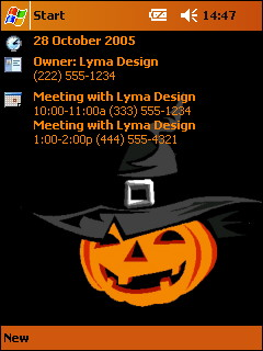 free FREE VGA Halloween Theme Pack 1 for windows mobile phone