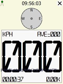GPS speedometer for Windows Mobile