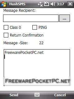 HushSMS v0 2 freeware for Windows Mobile Phone