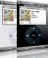 free IPod Skin for Media Player for windows mobile phone