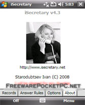 free iSecretary for windows mobile phone
